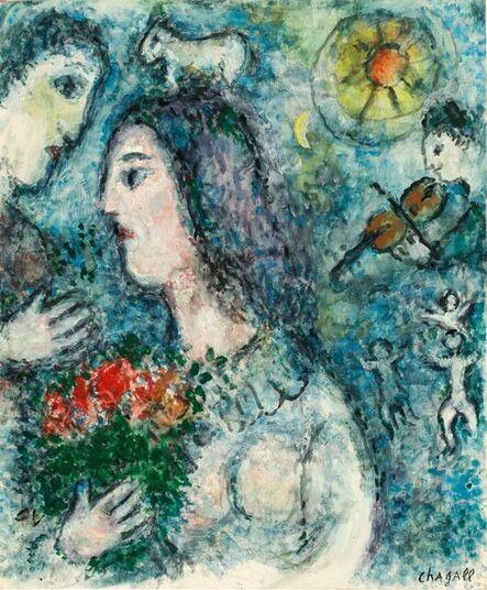 Marc Chagall, 'Profil au bouquet', 1981