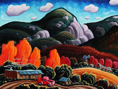 """Kim Wiggins, '""""Autumn On The Road To Taos""""'"""