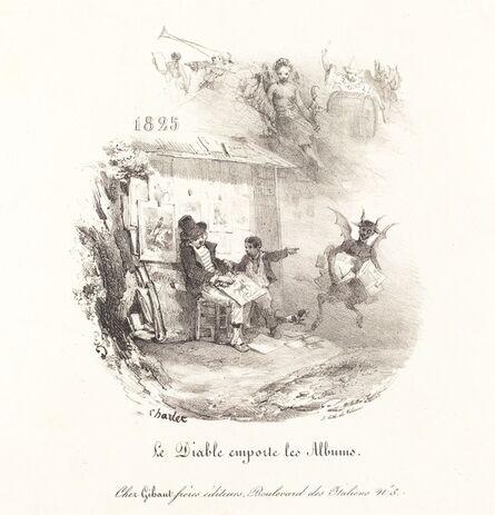 Nicolas-Toussaint Charlet, 'Le Diable emporte les Albums (The Devil Runs Off with the Lithograph Albums)', 1825