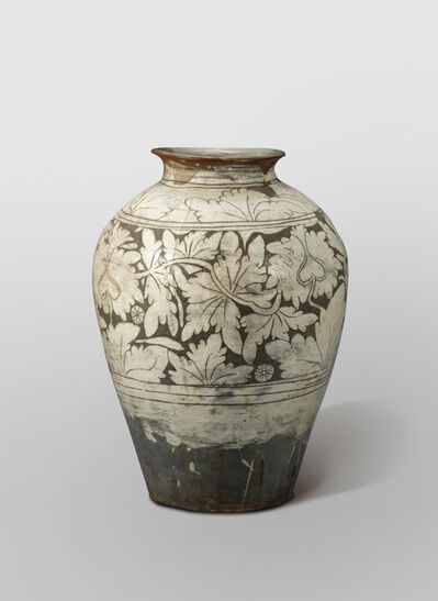 'Buncheong ware with Sgraffito Peony Scroll Design', 15th -16th century