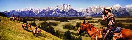 H. Archer & J. Hood, 'Colorama 245, Cowboys in Grand Tetons, Wyoming', Displayed 10/5/64–10/26/64