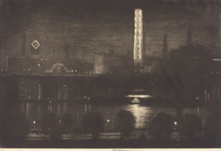 Joseph Pennell, 'London Night, Whiskey and Tea', 1909