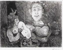 Pablo Picasso, 'Les Coulisses du Tableau. Odalisque et Peintre from L Série 156', 1970