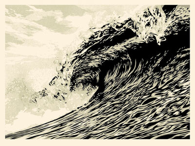 Shepard Fairey, 'Wave of Distress - Sepia Edition', 2021