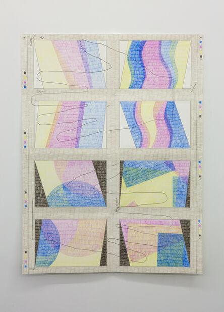 Derek Sullivan, '#124, Press Sheet', 2017