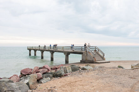 Donald Weber, 'Omaha Beach, Sector Charlie. October 3, 2013, 8am. 17 Celsius, 93% RELH, Wind ESE, 13 Knots. VIS: Fair, Moderate Rain', 2013