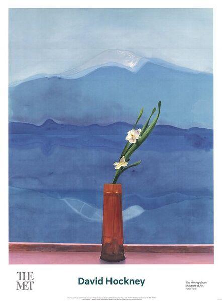 David Hockney, 'Mount Fuji and Flowers', 2016
