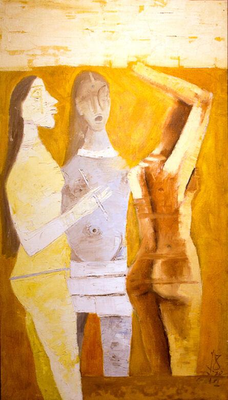 Maqbool Fida Husain, 'Women in Yellow', 1970