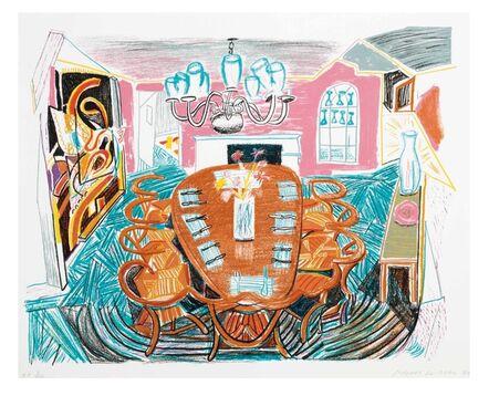 David Hockney, 'Tyler Dining Room', 1984