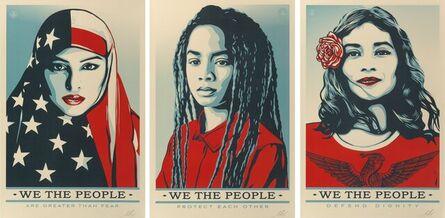 Shepard Fairey, 'We the People (set of 3)', 2017
