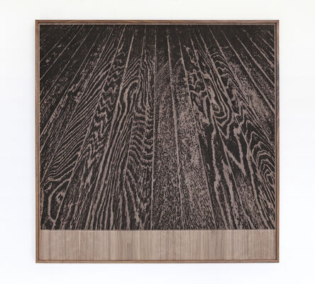 Analía Saban, 'Wooden Floor on Wood (One-Point Perspective)', 2017