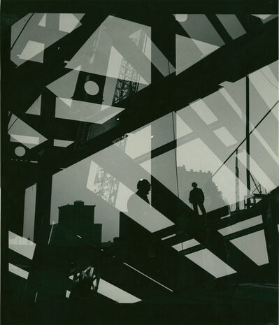 A. Aubrey Bodine, 'Builder's ZigZag'