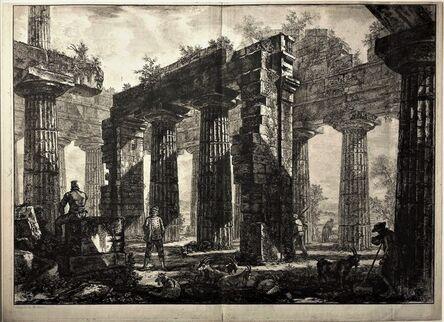 Giovanni Battista Piranesi, 'Rear View of the Pronaos of the Temple of Neptune', 1778