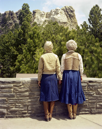 Judy Dater, 'Viewing Mt. Rushmore', 1982