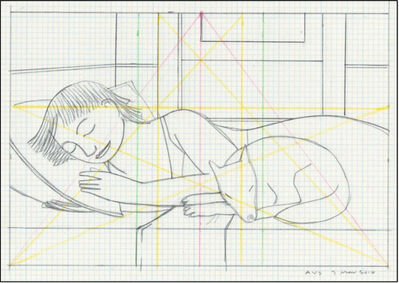 Andrew Stevovich, 'Drawing for Sleeping Woman with Dog', 2016