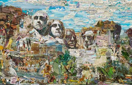 Vik Muniz, 'Postcards from Nowhere: Mount Rushmore', 2015