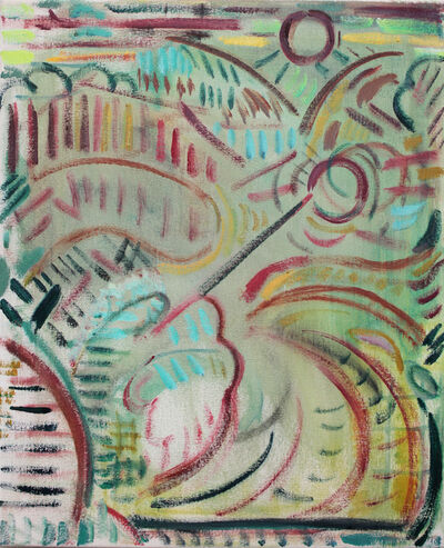 Kiera Bennett, 'Plein Air (Red Lines)', 2018