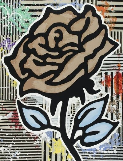 Donald Baechler, 'The brown rose', 2015