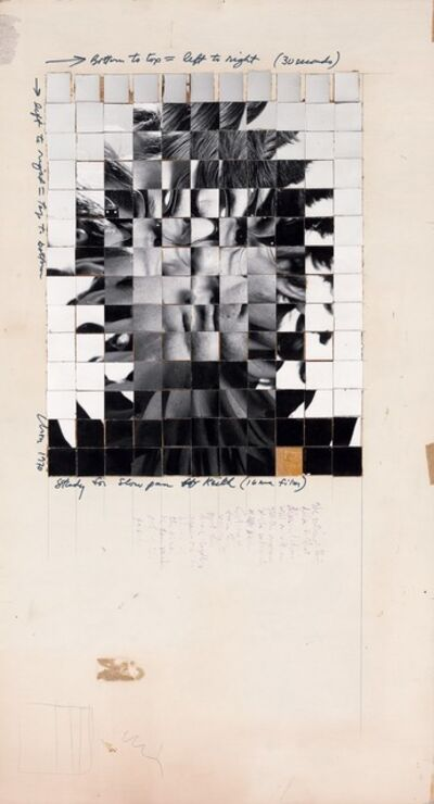 Chuck Close, 'Study for Slow Pan-Keith (16mm film)', 1970