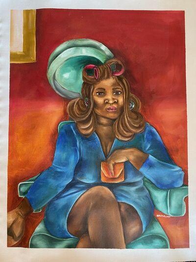 Mookho Ntho, 'Under the Dryer II', 2021