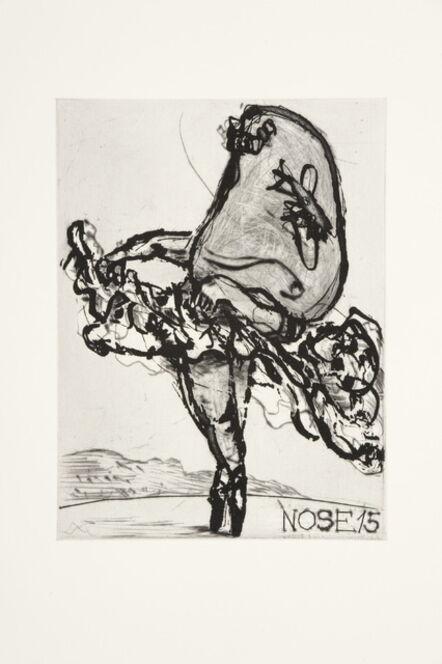 William Kentridge, 'Nose 15', 2009