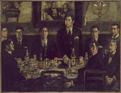 José Gutiérrez Solana, 'La tertulia del Café de Pombo (The Gathering at the Café de Pombo)', 1920