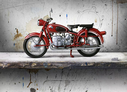 César Galicia, 'Bodegón con Moto Roja (Still Life with Red Motorcycle)', 2016