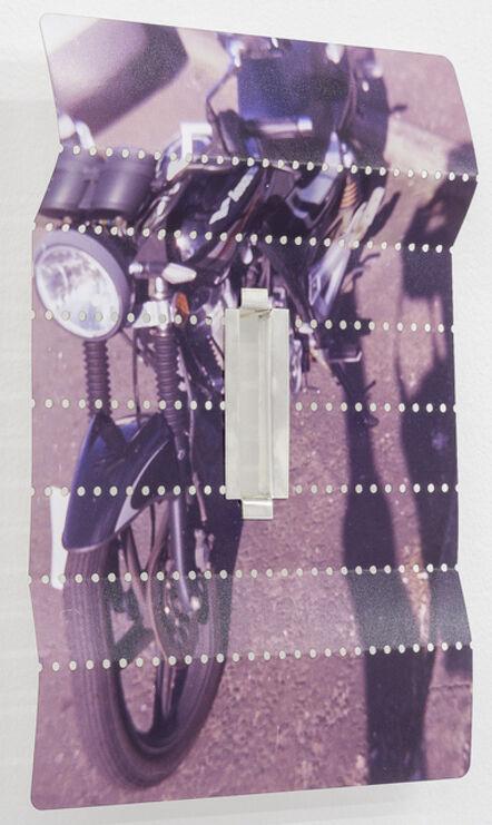 Tessa Lynch, 'Parked motorbike (perforations)', 2016