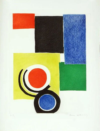 Sonia Delaunay, 'Composition polychrome ', 1970