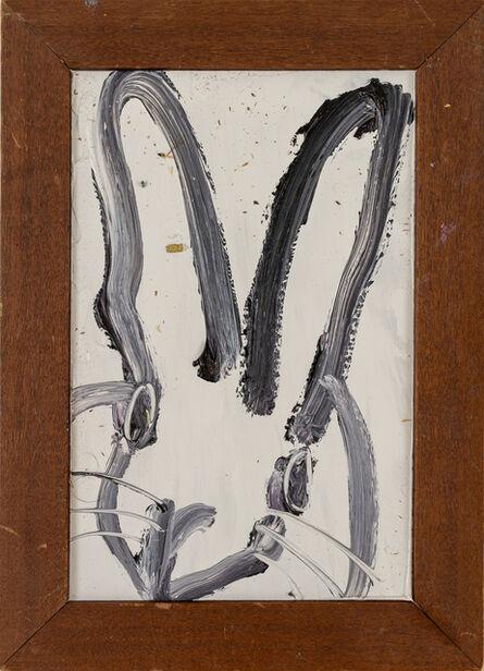 Hunt Slonem, 'Untitled (small bunny portrait on ivory)', 2020