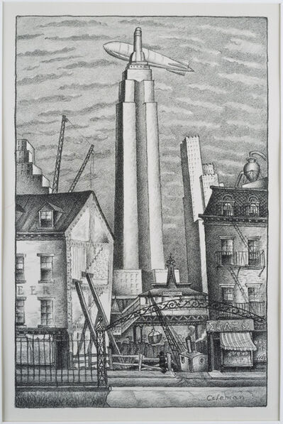 Glenn O. Coleman, 'Dirigible Over New York', date unknown