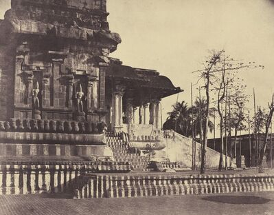 Linnaeus Tripe, 'Tanjore: Great Pagoda, Entrance Looking Outwards', March-April 1858