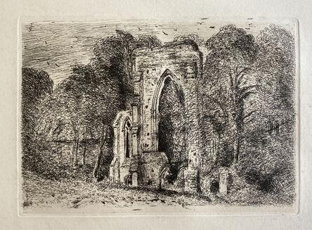 John Constable, 'Ruins at Netley Abbey', 1816