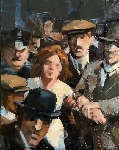 Maryanne Buschini, 'Alice Paul arrested in front of the White House', 2020