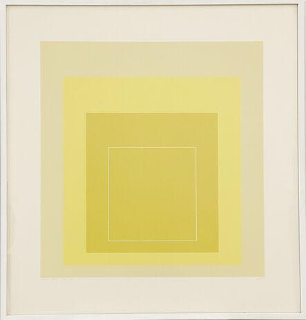 Josef Albers, 'WLS - XVII (jaune) 13/25', 1967