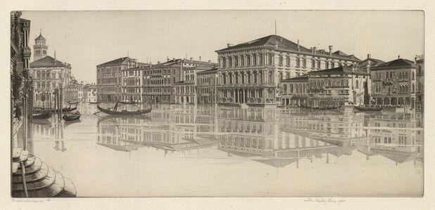 John Taylor Arms, 'Venetian Mirror.  (The Grand Canal, Venice.)', 1935