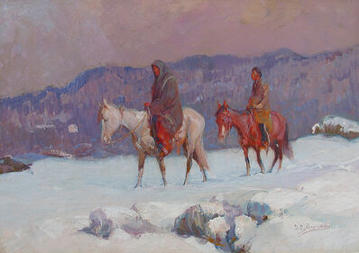 Oscar Berninghaus, 'Snow Covered Trail', ca. 1915