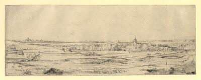 "Rembrandt van Rijn, 'Panorama near Bloemendael Showing the Saxenburg Estate  (""The Goldweigher's Field"")', 1651"
