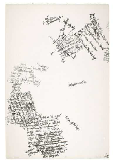 John Cage, 'Trial proof for 'Mushroom Book'', 1971-1972