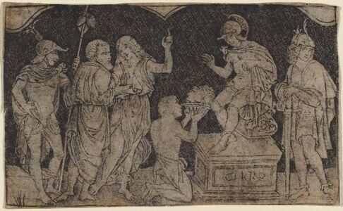 Peregrino da Cesena, 'Artaxerxes Receiving the Head of Cyrus', ca. 1490/1510