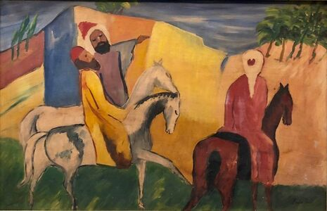 Emod Aurel, 'Rare Large Modernist Hungarian Oil Painting', Early 20th Century