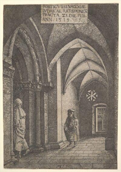 Albrecht Altdorfer, 'The Entrance Hall of the Regensburg Synagogue', 1519