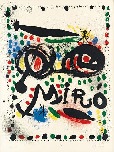 "Joan Miró, 'Poster for the Exhibition ""Joan Miro Graphics"" Philadelphia Museum of Art', 1966"