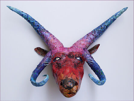 Yulia Shtern, 'Manx- Sculpture of  Endangered Horned Animal (Sheep) from Isle of Man in Upcycled / Recycled Materials ', 2018