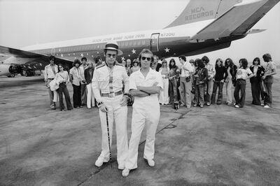 Terry O'Neill, 'Elton John Dodger Stadium, Aeroplane', 1975