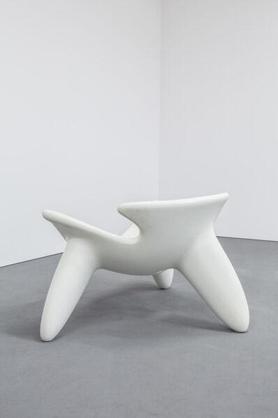 Wendell Castle, 'Concrete Chair White', 2010