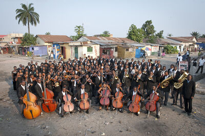 Vincent Boisot, 'The Kimbanguist Symphony Orchestra in a street of Ngiri Ngiri in Kinshasa', 2009
