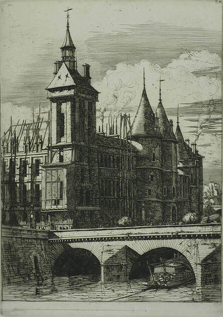 Charles Meryon, 'La Tour de l'Horloge (The Clock Tower)', 1852
