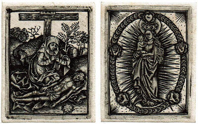 Anonymous, 'Lamentation of Christ  – Virgin on the Crescent in the Glory ', before 1500