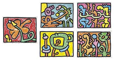 Keith Haring, 'Flowers 1-5', 1990